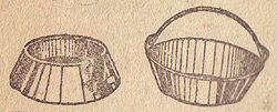 Железные оцинкованные поилушка и (справа) и кормушка (слева)