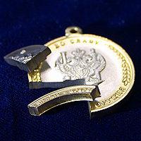 Так в разрезе должна выглядеть «честная» биметаллическая медаль